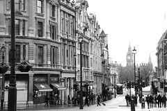Trafalgar View (saratakesphotos) Tags: street uk travel england bw white black london big nikon ben d800