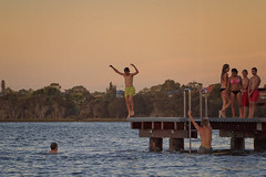 Images of Summer (Amanda J Richards) Tags: sunset sky water kids youth river teenagers australia perth swanriver