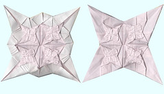 3rd test fold: tessellations (o'sorigami) Tags: paper origami complex tessellation paperfolding folding teselation