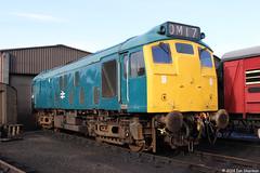 25057 23rd Feb 2014 NNR Weybourne (Ian Sharman 1963) Tags: train rat diesel north norfolk engine railway loco class 25 feb 23rd 2014 weybourne nnr 25057