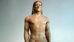 Anavysos Kouros, half length view, c. 530 B.C.E.