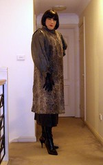 Shades of Grey (2) (Furre Ausse) Tags: black leather silver fur grey persian boots skirt blouse gloves lamb satin astrakhan