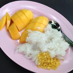 ข้าวเหนียวมะม่วง | Sweet Sticky Rice And Mango @ ข้าวเหนียวทิพย์ (เจ้าเก่า) | Kow Niaw Thip