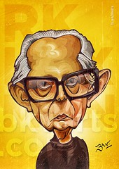 RK Laxman Caricature (BKV Arts) Tags: rasipuram krishnaswami iyer laxman cartoonist humorist illustrator commonman media politcs artist indian tamil