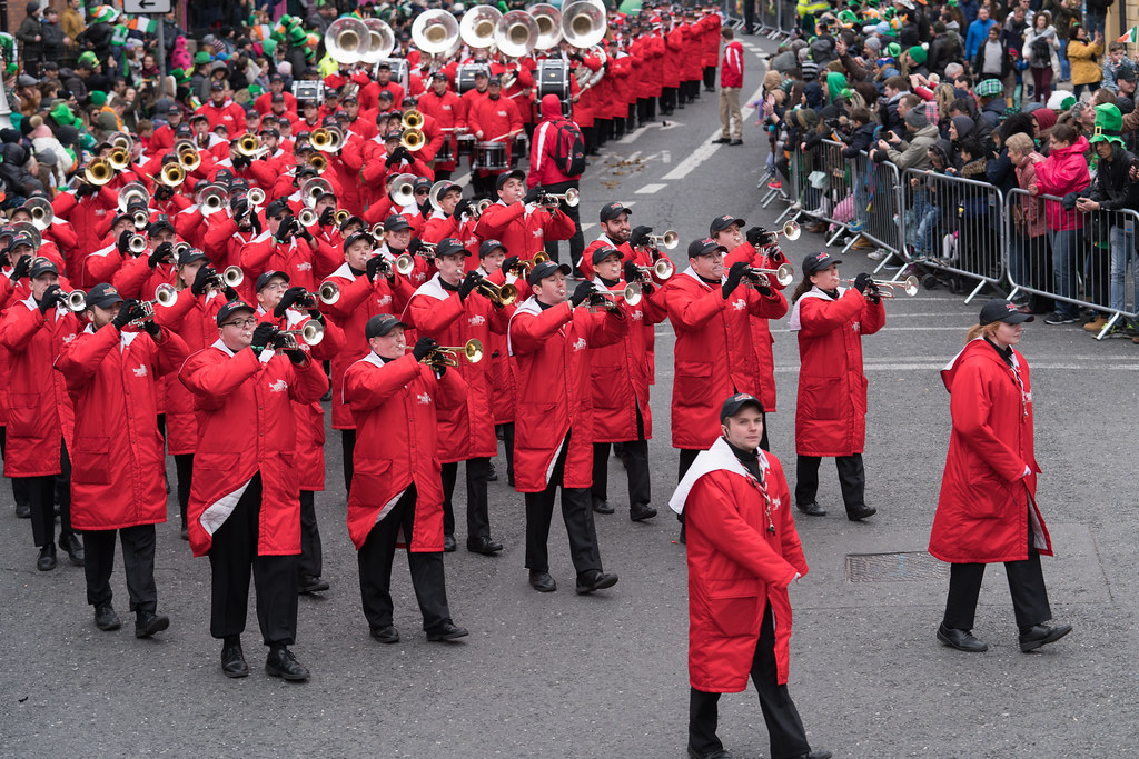 Illinois State University's Big Red Marching Machine [St. Patricks Parade 2017]-125850