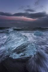 Diamonds of the sea (Sander Grefte) Tags: iceland ijsland landscape landschap longexposure langebelichting le ice icelake icerock ijs ijsrots seascape sea zee lucht sky
