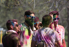 Holi Festival of Colors #11 (Robert Borden) Tags: holi festivalofcolors elmonte california sunglasses color friends buddies colorful people group socal west usa northamerica canon canonphoto canonphotographer canonrebel