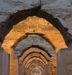 Ruined arches, royal stables, Heri es-Souani, Meknes, Morocco (Paul McClure DC) Tags: meknes morocco almaghrib jan2017 meknès historic architecture