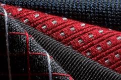 Textile (•Nicolas•) Tags: clothtextile costume macromondays nicolasthomas choix choose cloth color couleur cravate diagonal diagonale dot france lignes lines macro pois suit textile tie tissu uni variety