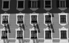 obumbratio (Andy WXx2009) Tags: blackandwhite monochrome streetphotography windows shadows architecture street sunlight artistic building houses rapallo liguria italy europe urban shutter skyline cityscape