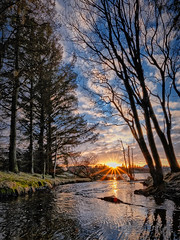 Haraldsvang, Norway (Vest der ute) Tags: xt2 water waterscape lake norway rogaland haugesund trees sunset sky clouds river grass outdoor fav25 fav200