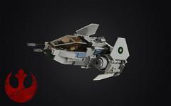Eta-7 Alliance Interceptor (Roy of Floremheim) Tags: lego moc creation build scifi starfighter interceptor rebels rebelalliance starwars fighter ship cockpit wings
