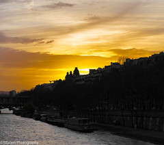 Sunset in Paris (Ellacott Photography) Tags: sunset landscape cityscape riverseine paris france editing lightroom photography nikond3100