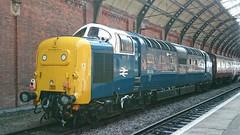 55022 Royal Scots Gray at Darlington (Uktransportvideos82) Tags: rsg deltic 55019 55018 55022
