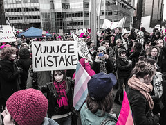 IMG_0234 (justine warrington) Tags: womens march womensmarch womensmarchonwashington washington pink pussy hats pinkpussyhat protest signs trump 45th presidential election january 21st 2017 potus resist resistance is fertile