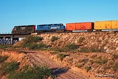 Happy Valley Helper (C.P. Kirkie) Tags: spsunsetroute southernpacific arizona desertrailroad desert sp sonorandesert tucson emd freighttrain sd45 sdp45 vmv