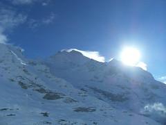 ...Jungfrau 4,158m... (project:2501) Tags: wengen jungfrauregion suisse switzerland snow ski travel theviewfromhere clouds lightcloud sun sunshine sky skyblue snowblue bluelight blue bluebleu bleu inthemountains mountains mountain rock mönch4107m jungfrau4158m
