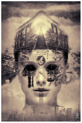 Contaminacion (| Photograper | Digital Artist |) Tags: contaminacion eco ecologico ecologia ecologica dark oscura gothic art face woman girl destroyed destruccion blackeyes