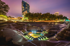 Fort Worth Water Gardens right after sunset (djgreddy00) Tags: fortworth fort worth ftw fortworthwatergardens watergardens texas tx sony sonyalpha sonya7ii sonyimages sonyalphasclub sonya7lovers sonya7 zeiss zeiss1635 zeiss1635mm nightphotography longexposure