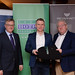 Tim Fenn, IHF CEO, Paul Madden, Temple Gate Hotel and Joe Dolan, IHF President