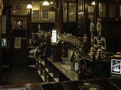 On Tap (johnholme1) Tags: arcetecture bar monochrome nightscene pub queenshead stockport underbank winetaps blackandwhite uk