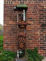 Petrol Pump, Old Hartley (aj.gardner) Tags: petrolpump old oldhartley seatonsluice rusting rust rusted broken vandalised former decay corrosion northumberland bikeride garage wall machinery cogs motor corroded