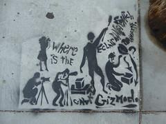 Eclair Bandersnatch stencil, San Francisco (duncan) Tags: graffiti sanfrancisco streetart stencil eclairbandersnatch