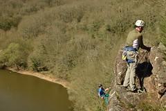 Grimpeurs (bonnaudthomas) Tags: escalade climbing forêt forest falaise cliff
