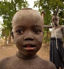 Mursi Boy (Rod Waddington) Tags: africa african afrique afrika äthiopien ethiopia ethiopian ethnic etiopia ethnicity ethiopie etiopian omo omovalley outdoor portrait people culture cultural child candid mago mursi tribe traditional tribal