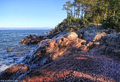 Rock Formations at Hunter's Point Park in Copper Harbor Michigan (PhotosToArtByMike) Tags: copperharbor hunterspointpark rockycoastline keweenawpeninsula michigan mi upperpeninsulaofmichigan lakesuperior rockformations bluewater upperpeninsula up uppermichigan