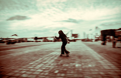 The Butterfly (M N S Photography) Tags: girl ski skator life sport abu dhabi uae corniche sky mono whie black filter skating