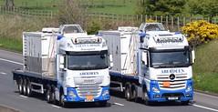 SV15NNO  SV17HND  Colin Lawson, Aberdeen (highlandreiver) Tags: carlisle sv15nno sv15 nno sv17hnd sv17 hnd colin lawson transport haulage aberdeen daf mercedes benz truck lorry wagon m6 wreay cumbria