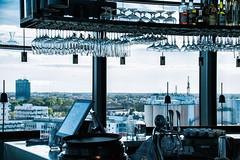 A bar with a view (Maria Eklind) Tags: view restaurant cityview city outdoor abarwithaview bottles moln malö malmö utsikt sweden studiomalmö sky architecture grilljanne glasses europe himmel skånelän sverige se