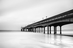 Boscombe Pier (Derek Robison) Tags: devon pier boscombe sea landscape longexposure bournemouth shore blackandwhite blackwhite