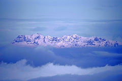 Sky Iceberg (GEORGE TSIMTSIMIS) Tags: clouds mountain snow winter sky white blue alpenglow telephoto 400mm pentaxk1 ricohimaging greece gionamountain peaks stiff fulllframe