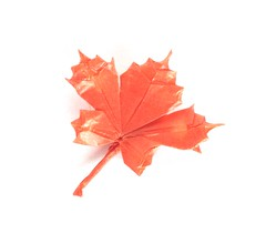Maple Leaf (folding~well) Tags: origami paper folding maple leaf autumn fall