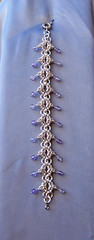 Amethyst Bracelet (Paper Irises) Tags: jewellery amethyst beads silver bracelet