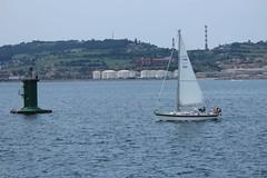 IMG_1165 (2)_1 (Pablo Alvarez Corredera) Tags: xixon gijon mar orilla puerto rocas roca zul azules cielo velero