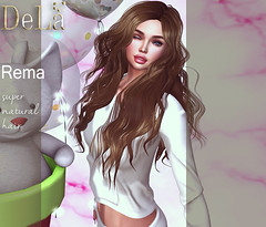 """=DeLa*= new hair """"Rema"""" (=DeLa*=) Tags: dela hair fitted rigged mesh materials secondlife secondlifefashion sl slhair style tres chic new"""
