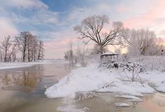 Утро на  реке (ruslan.avdevich) Tags: утро рассвет sunrise fog winter река river sky