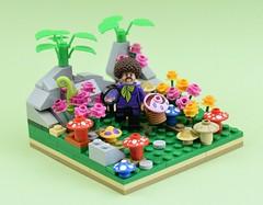 Hunting For Magic (MinifigNick) Tags: lego minifigure minifig minifigures afol mushroom shrooms