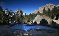 Frozen Pond (Kevin.Grace) Tags: pond frozen dolomites italy sassolungo mountain landscape