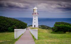 Storm coming (Tatterededges) Tags: red lighthouse coast storm leadinglines dogwood2017 dogwoodweek16 ocean seascape landscape
