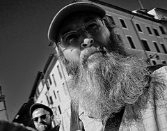Fine beard Sir. (Baz 120) Tags: candid candidstreet candidportrait city candidface candidphotography contrast street streetphoto streetcandid streetphotography streetphotograph streetportrait rome roma romepeople romestreets romecandid europe monochrome monotone mono blackandwhite bw noiretblanc urban voigtlandercolorskopar21mmf40 voightlander life leicam8 leica primelens portrait people unposed italy italia grittystreetphotography faces decisivemoment strangers