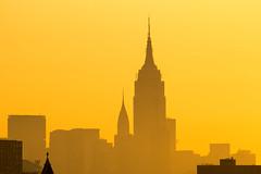 Daybreak, NYC ([ raymond ]) Tags: empirestatebuilding manhattan morning nyc skyline orange