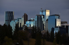 Downtown Calgary Office Towers at Dusk (pokoroto) Tags: downtown calgary office towers dusk cityscape カルガリー アルバータ州 alberta canada カナダ 10月 十月 神無月 かんなづき kannazuki themonthwhentherearenogods 平成28年 2016 autumn october