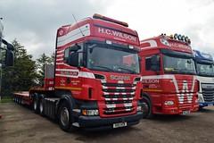DSC_0004 (richellis1978) Tags: truck lorry hgv lgv transport haulage logistics cannock scania r daf xf 105 hc wilson r620 v8 heavy r80hcw r80 hcw wil2218