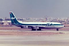 OO-TEC Boeing 707-131 cn 17659 ln 19 TEA - Trans European Airways Palma 11Jun79 (kerrydavidtaylor) Tags: palmademallorcaairport aeropuertodepalmademallorca lepa pmi boeing707 boeing707100