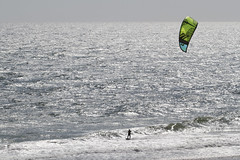 Solo on a Silver Sea (brucetopher) Tags: surf sail kitesurf green light morning sunshine silver alone solo waves wave breakers surfing windsurfing windsurfer surfer man wetsuit water sea ocean lighting sunlight early dawnpatrol dawn beach shallow ripples fromabove over overlook view vista scene sport watersports saltwater bay atlatntic