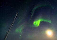 Aurora Curtains (redfurwolf) Tags: southpole antarctica aurora auroraaustralis night sky moon dark light antarctic redfurwolf outdoor nature sonyalpha a99ii sony